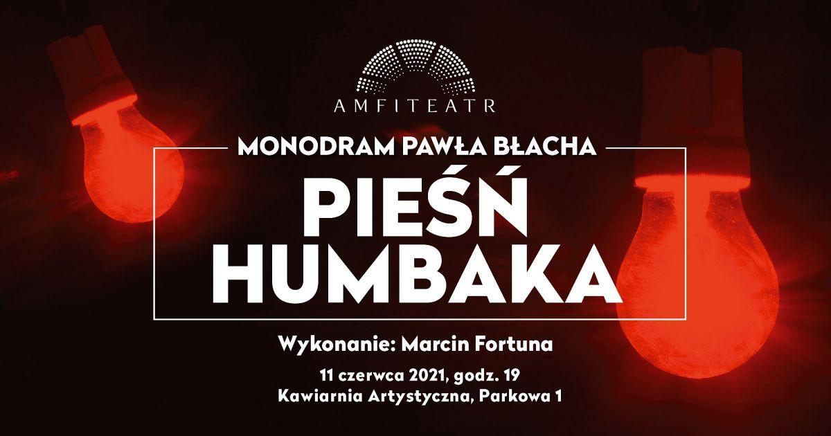 Pieśń humbaka - monodram na podstawie tekstu Pawła Błacha w radomskim Amfiteatrze